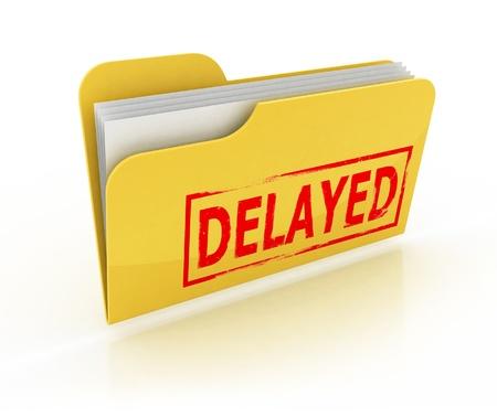 delayed: delayed folder icon over the white background