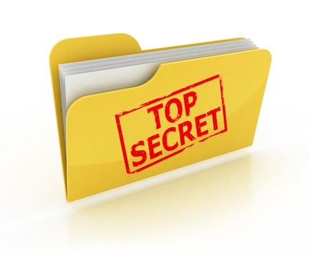 top secret folder icon over the white background  photo