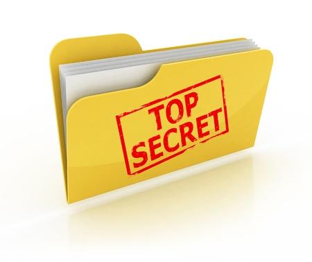 top secret folder icon over the white background  photo