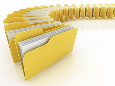 many folders on the white background  photo