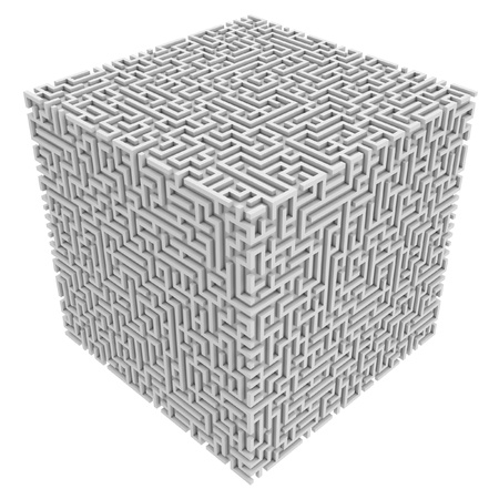 labyrinth: maze cube  Stock Photo