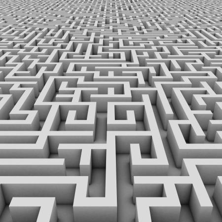 the maze: interminable laberinto 3d ilustraci�n Foto de archivo