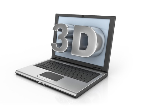 blue eye: 3d ready notebook - 3d letters pop out of the screen