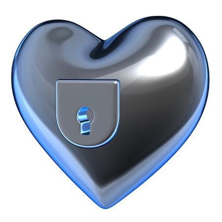 hearth: metalic hearth padlock Stock Photo