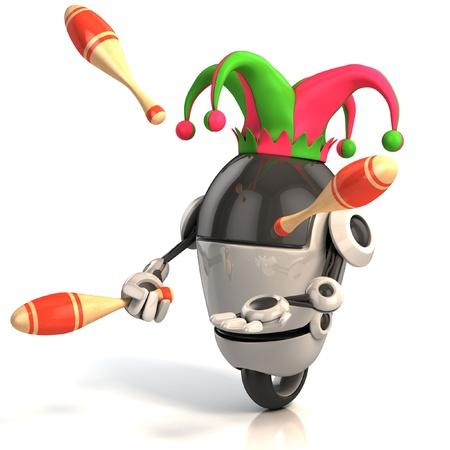 Roboter Jester - Entertainer Standard-Bild
