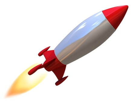 3d rocket isolated  photo
