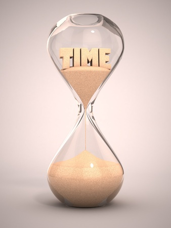timer: hourglass, sandglass, sand timer, sand clock 3d illustration