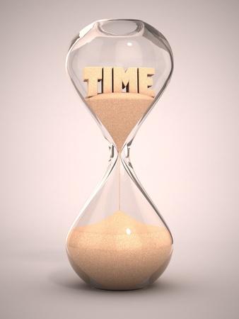 sand watch: hourglass, sandglass, sand timer, sand clock 3d illustration