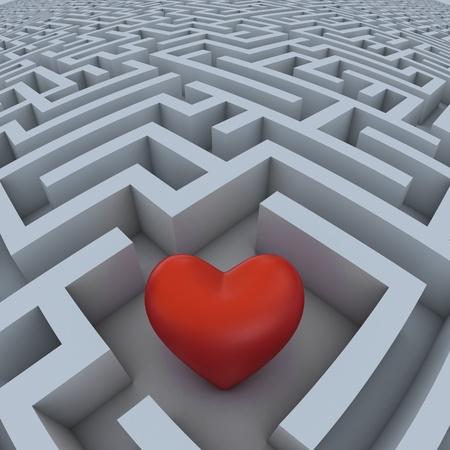 hearth: hearth in labyrinth  Stock Photo