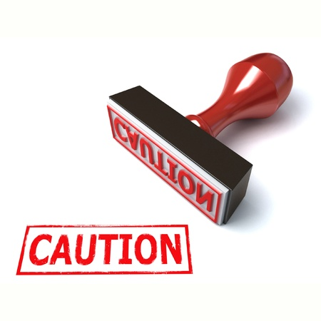 3d stamp caution Stock Photo - 12557535