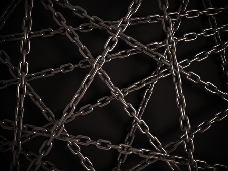 shackle: chains on the dark background