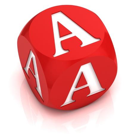 dice font letter A  photo