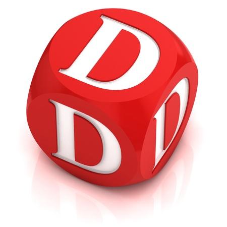d: dice font letter D