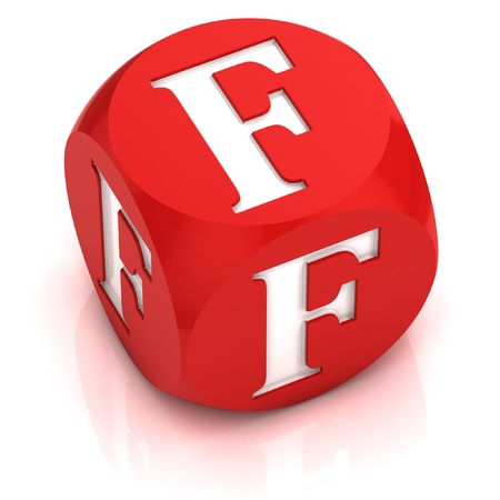 dice: dice font letter F