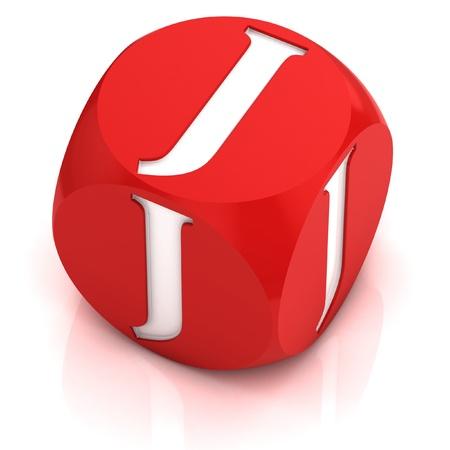 letter j: dice font letter J  Stock Photo