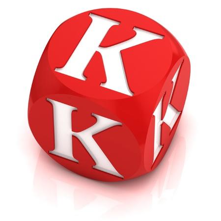 dice font letter K Stock Photo - 12558331