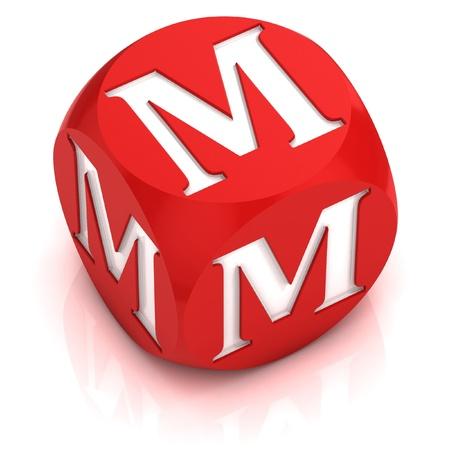 dices: dice font letter M