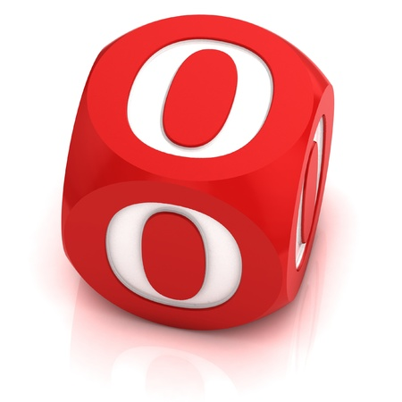 dice: dice font letter O