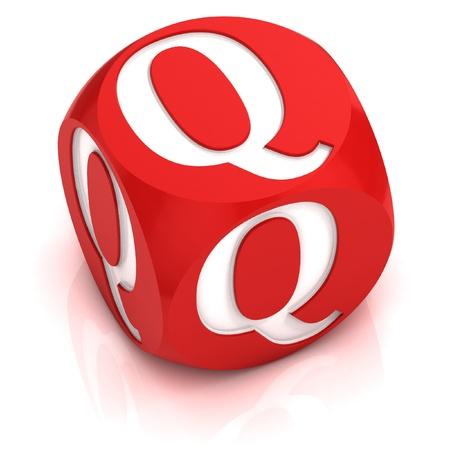 dice font letter Q  Stock Photo