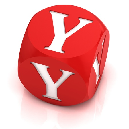 dice font letter Y Stock Photo - 12558346