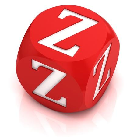 letter z: dice font letter Z