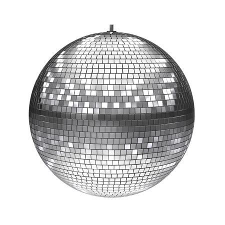 fiestas discoteca: bola de discoteca aislado en blanco Foto de archivo