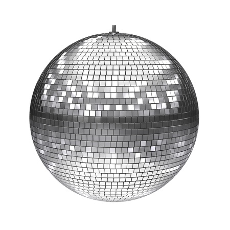 mirror ball: disco ball isolated on white  Stock Photo