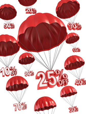 percentage: big sale - discount 3d concept  Stock Photo