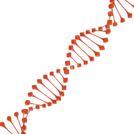 raytrace: dna on white background