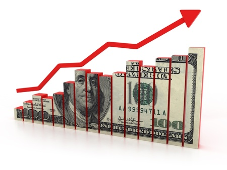 dollar growth diagram  Stock Photo - 12558238