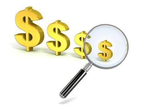 savings problems: dollar crisis 3d concept