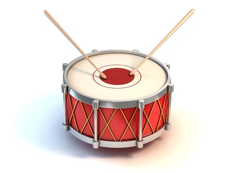 bass drum instrument 3d illustration Stock Illustration - 12558319