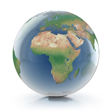 transparent globe 3d illustration  illustration