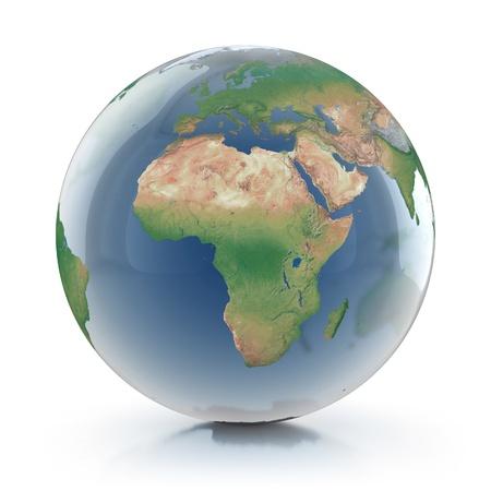west europe: transparent globe 3d illustration  Stock Photo