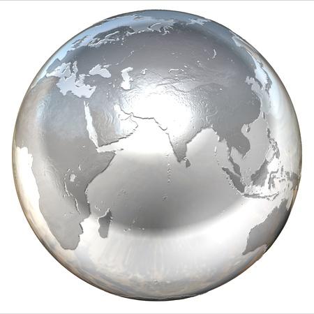 silver globe Stock Photo - 12558188