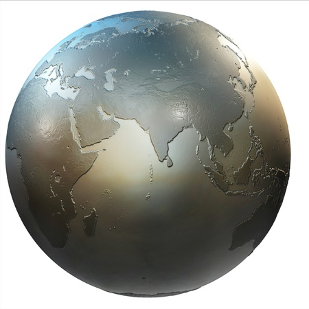 earth core: abstract isolated 3d globe  Stock Photo