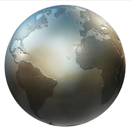 abstract isolated 3d globe  photo