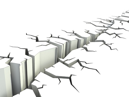 security gap: earthquake 3d illustration  Stock Photo