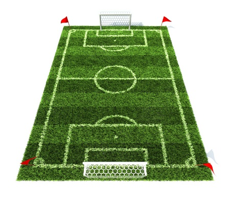football field isolated on white background  Stock Photo - 12558189