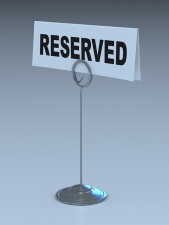 reserved sign 3d illustration illustration