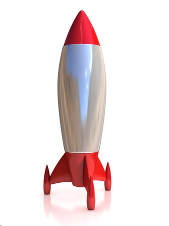 rocket launch: 3d rocket isolated