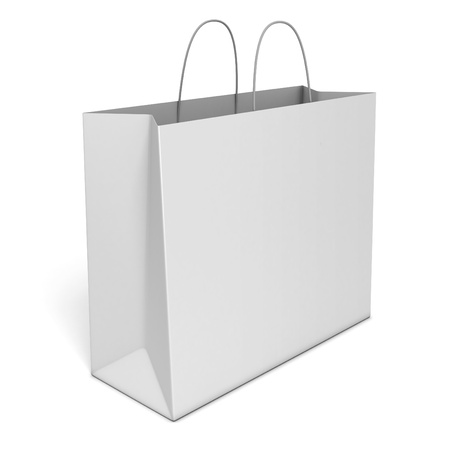 blank shopping bag isolated over white background  photo