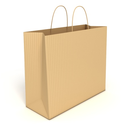 shopping bag isolated over white background  photo