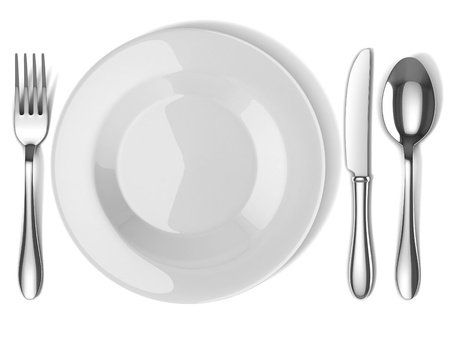 plate and silverware Stock Photo - 12558281