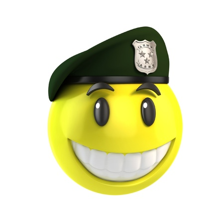 military beret: smiley solider