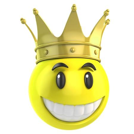 golden crown: smiley king
