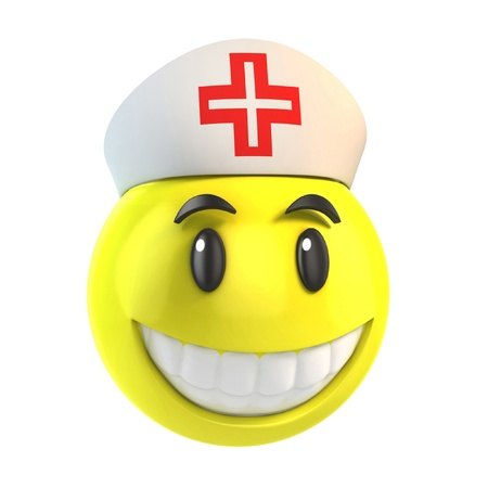 enfermera con cofia: sonriente enfermera Foto de archivo