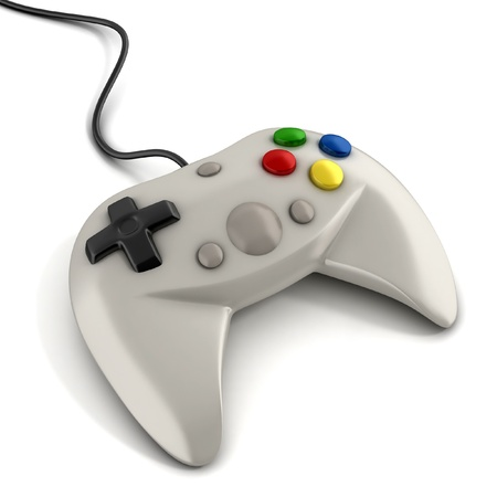 video gaming: gamepad 3d illustration Stock Photo