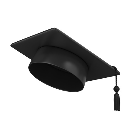 academy: Graduation Cap 3d rendering Stock Photo