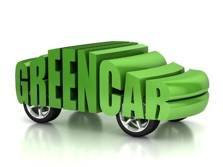 green car 3d concept Stock Photo - 12558300